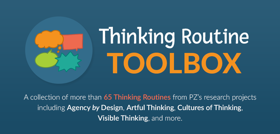 Image for Thinking Routine Toolbox. Icon with four chat / thought bubbles.